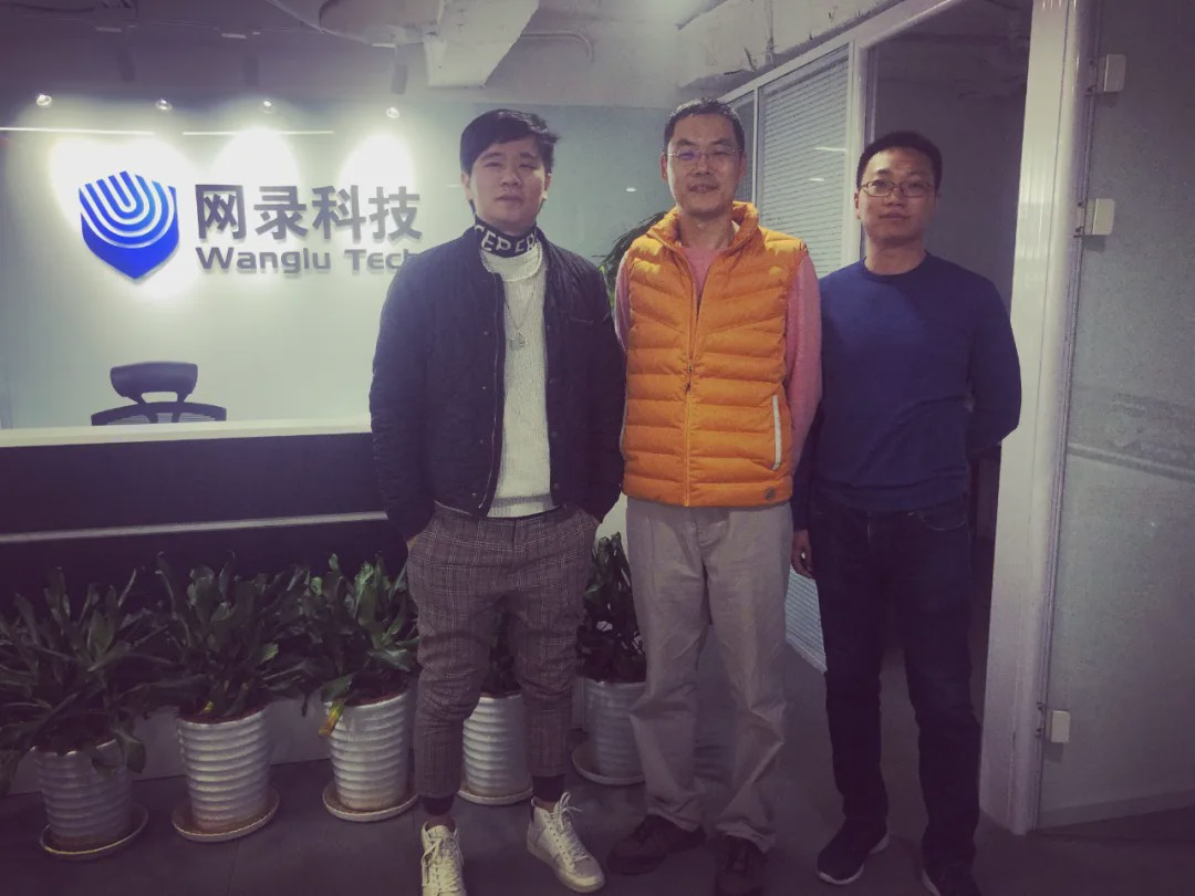 From left to right, Robin Luo, founder of Bitllywood, with Li Ni, global vice president of Wanchain, and Huang Chao, COO of Bitllywood