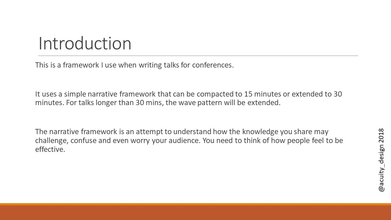 Introduction - designing a 15 minute talk