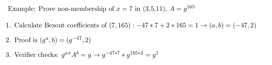 Proving exclusion of the value 7, in a set with {3,5,11}