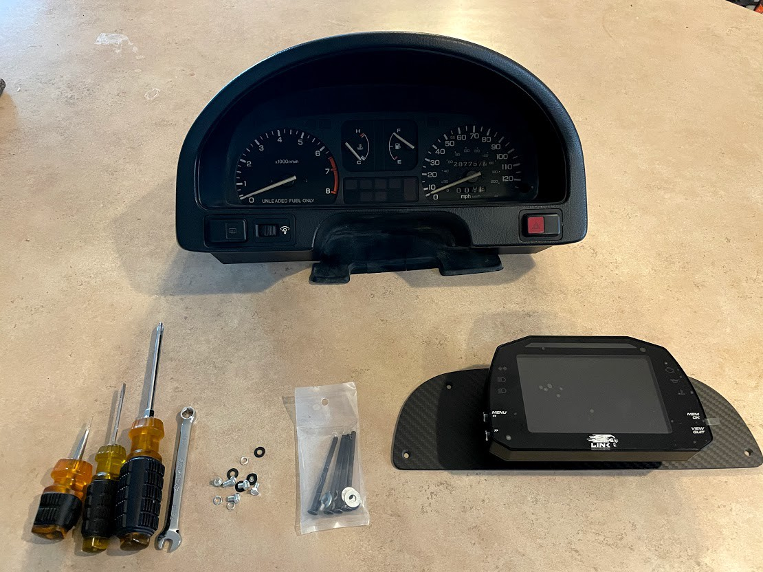 image from How to Modify a Honda Gauge Cluster to Accept a LINK or AiM Digital Dash