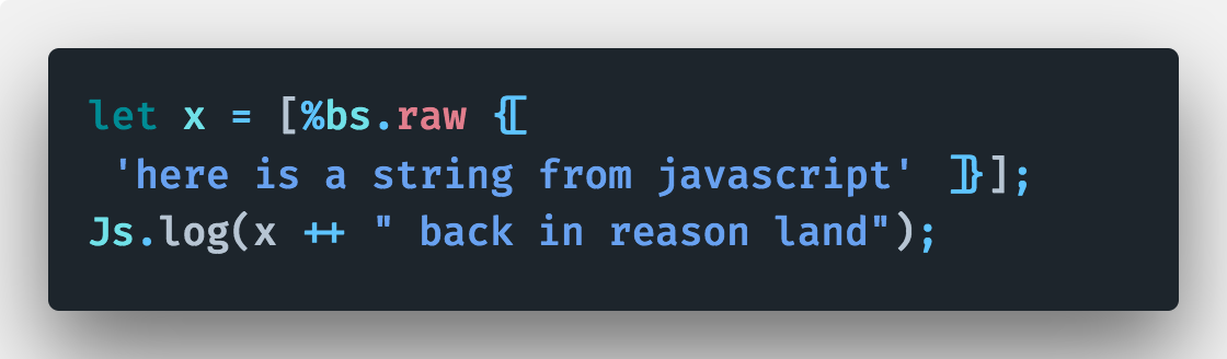 Dari JavaScript di binding ke Reason