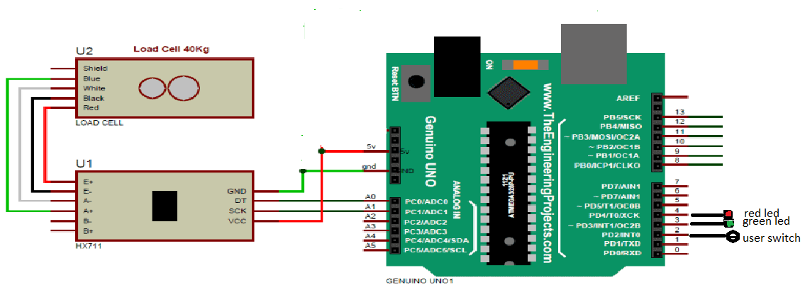 How to design a simple Object Theft Detection circuit using Arduino and load sensor