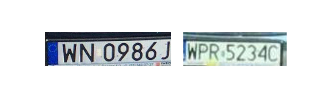 car plate number photo