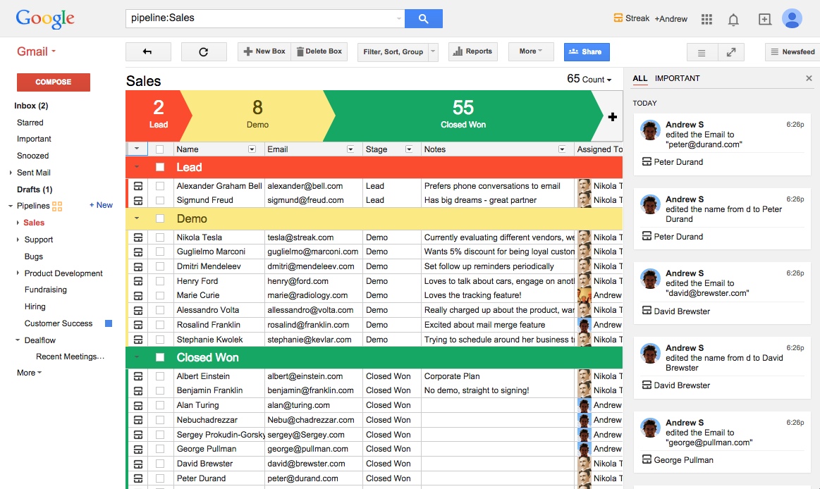 If you use Gmail, you should be using Streak