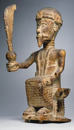 Statue of a man from the Kingdom of Ghana
