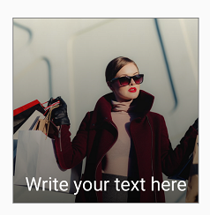 Shadow and Text on ImageView in Android