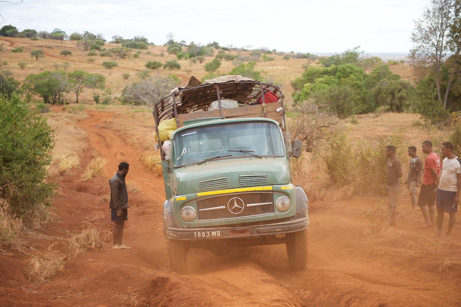 A truck carrying nets travels on an accessible road in Madagascar. / Lan Andrian, USAID Global Health Supply Chain Program — Procurement and Supply Management