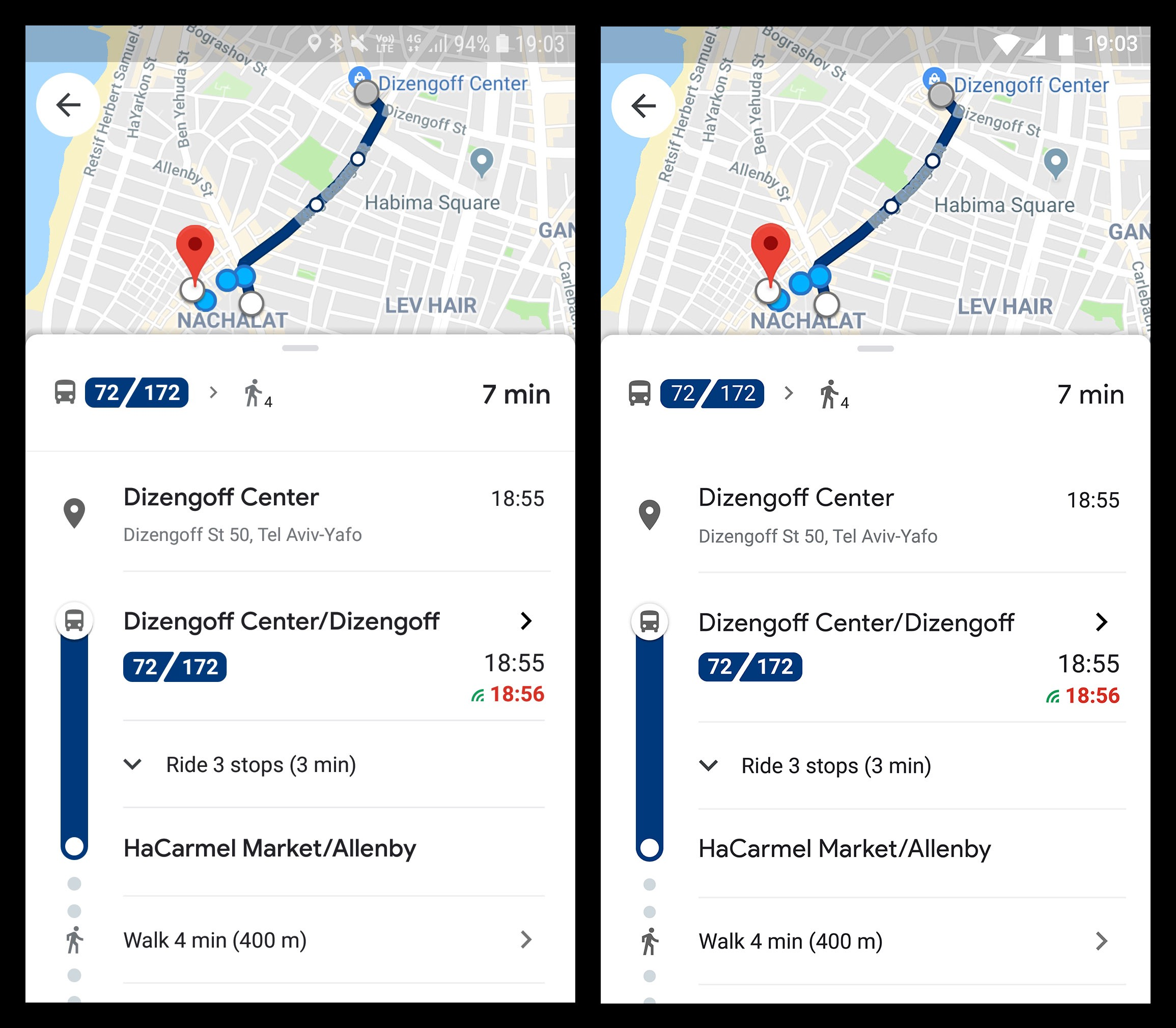 Google Map Indicator, Left Original Screenshot Right My Traced Version Made With Figma, Google Map Indicator