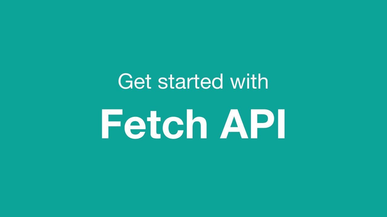 A practical ES6 guide on how to perform HTTP requests using the Fetch API
