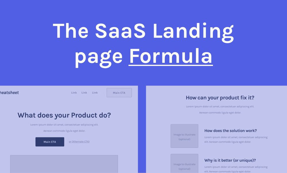 The Step-by-Step SaaS Landing page Formula [2019 edition] - By