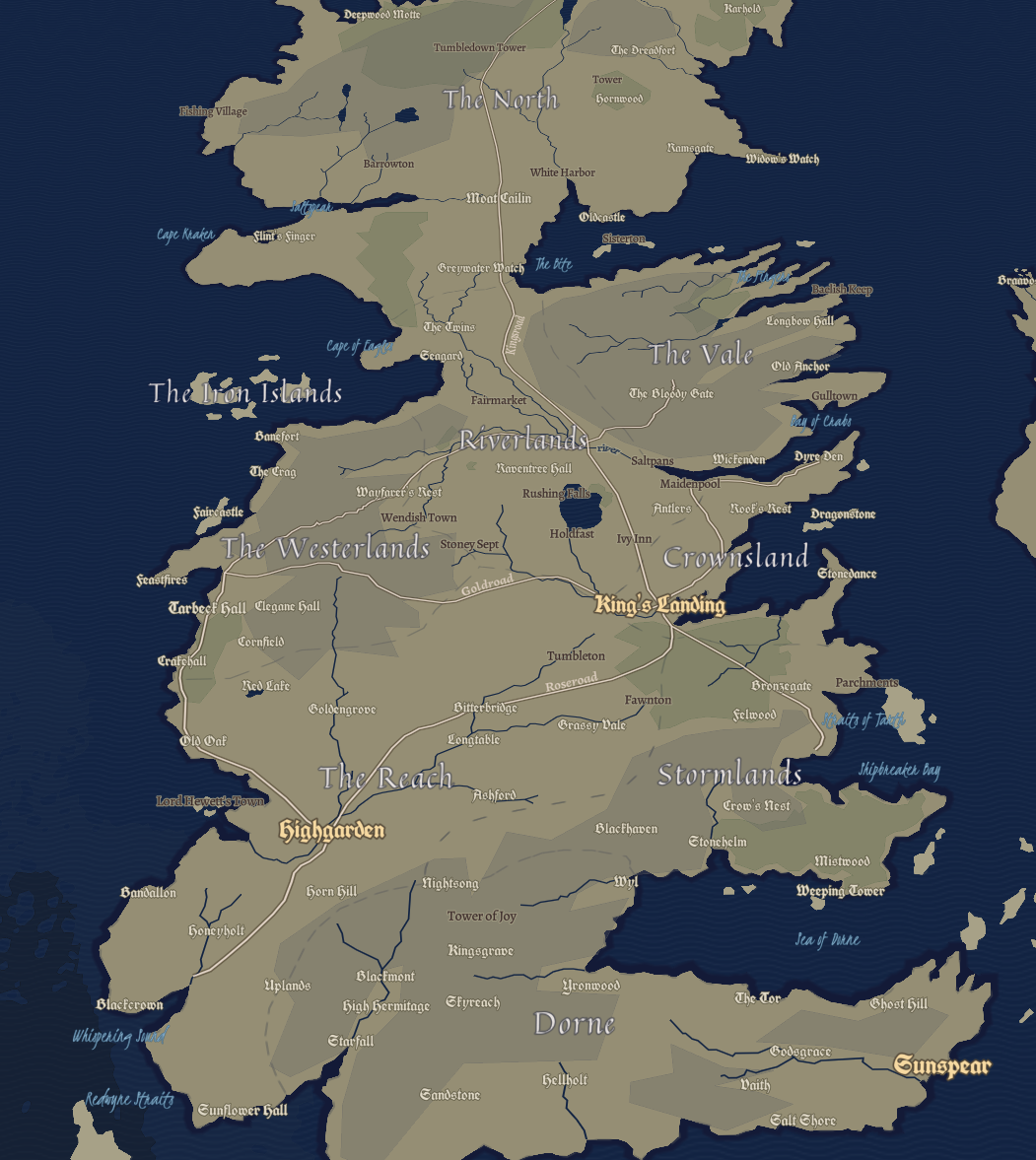 Design Your Own Game Of Thrones Inspired Map Points Of Interest