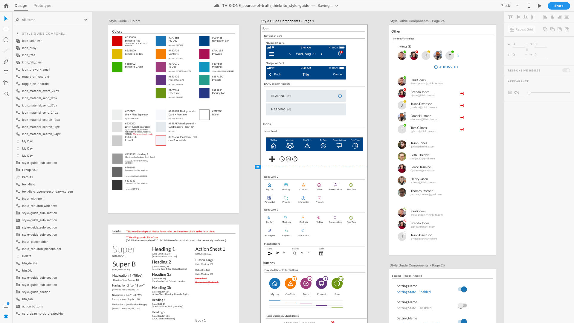 An Adobe Xd Style Guide And Design System Jason James Medium