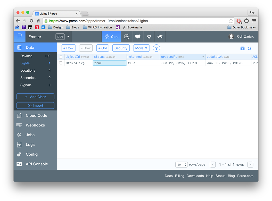 Prototyping UI for the Internet of Things with FramerJS, Parse and IFTTT