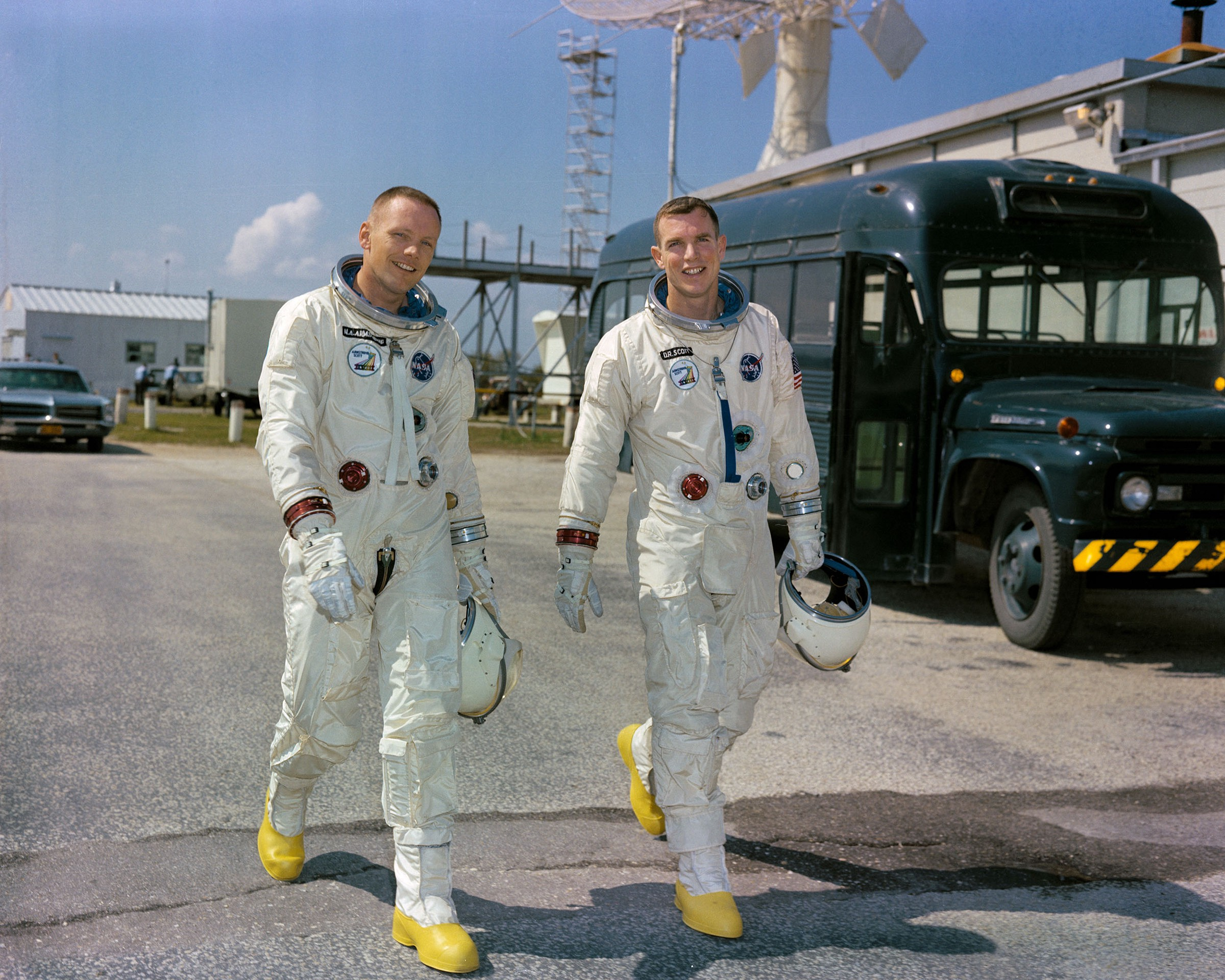 626ef8cc75 All smiles for the Gemini 8 prime crew of Neil Armstrong and David Scott