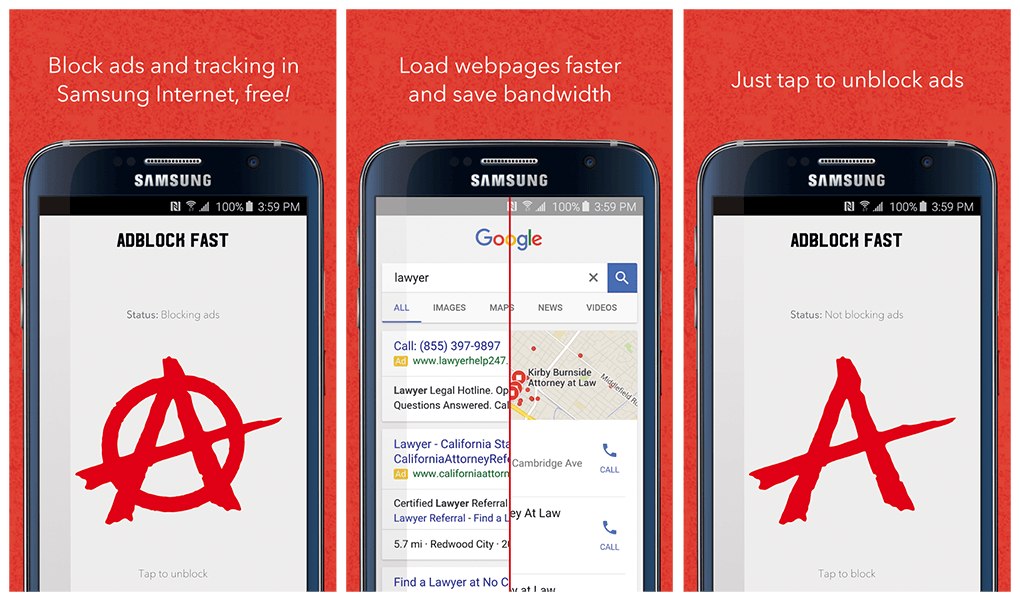 adblock chrome android samsung
