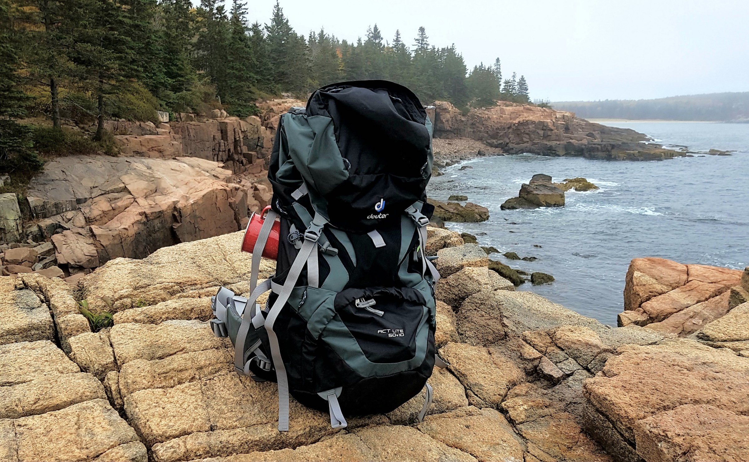 d9a14bd7a14 The Deuter ACT Lite enjoying the cool weather in Acadia NP, Maine.