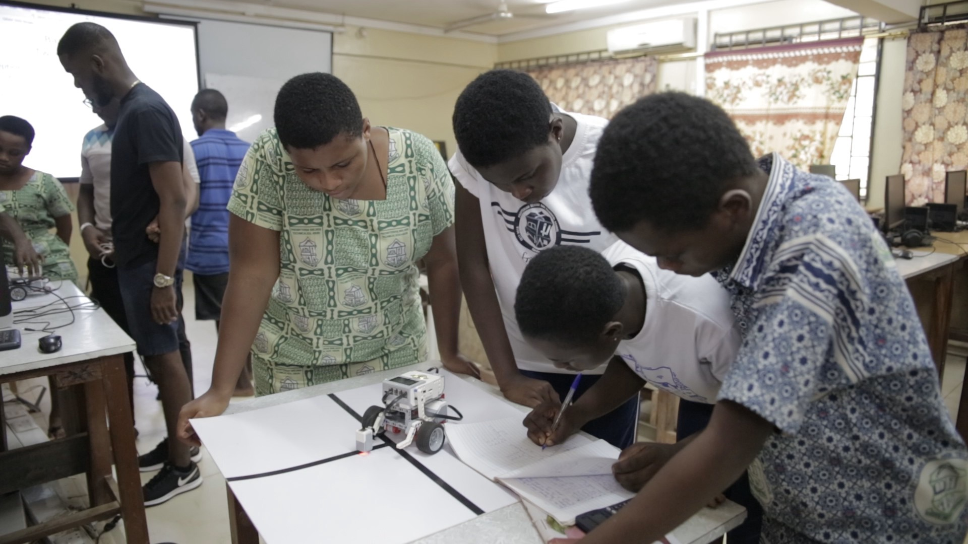 Ashesi students volunteering under Ford Foundation Fellows Programme