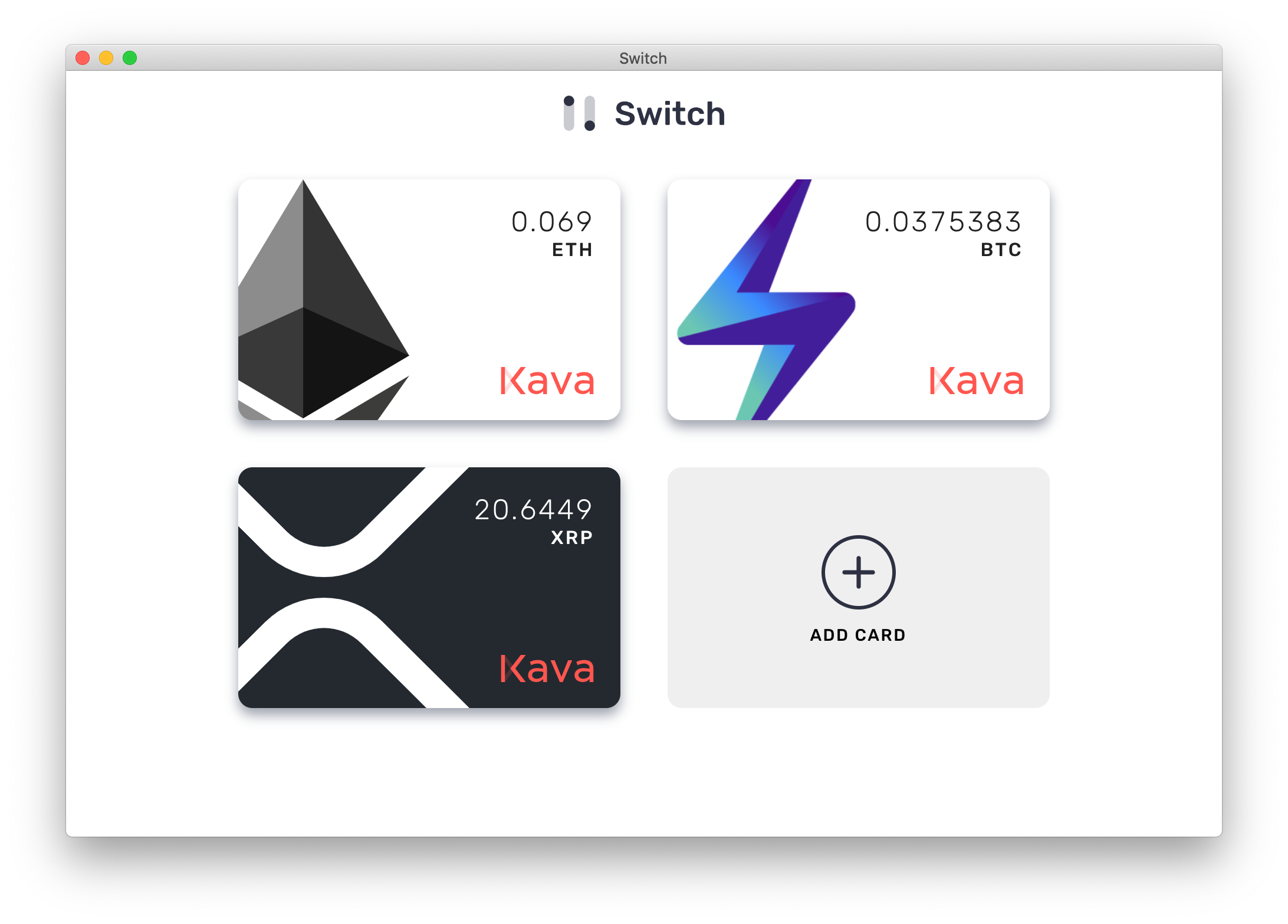 Switch Swap Ripple XRP, Bitcoin, Ethereum