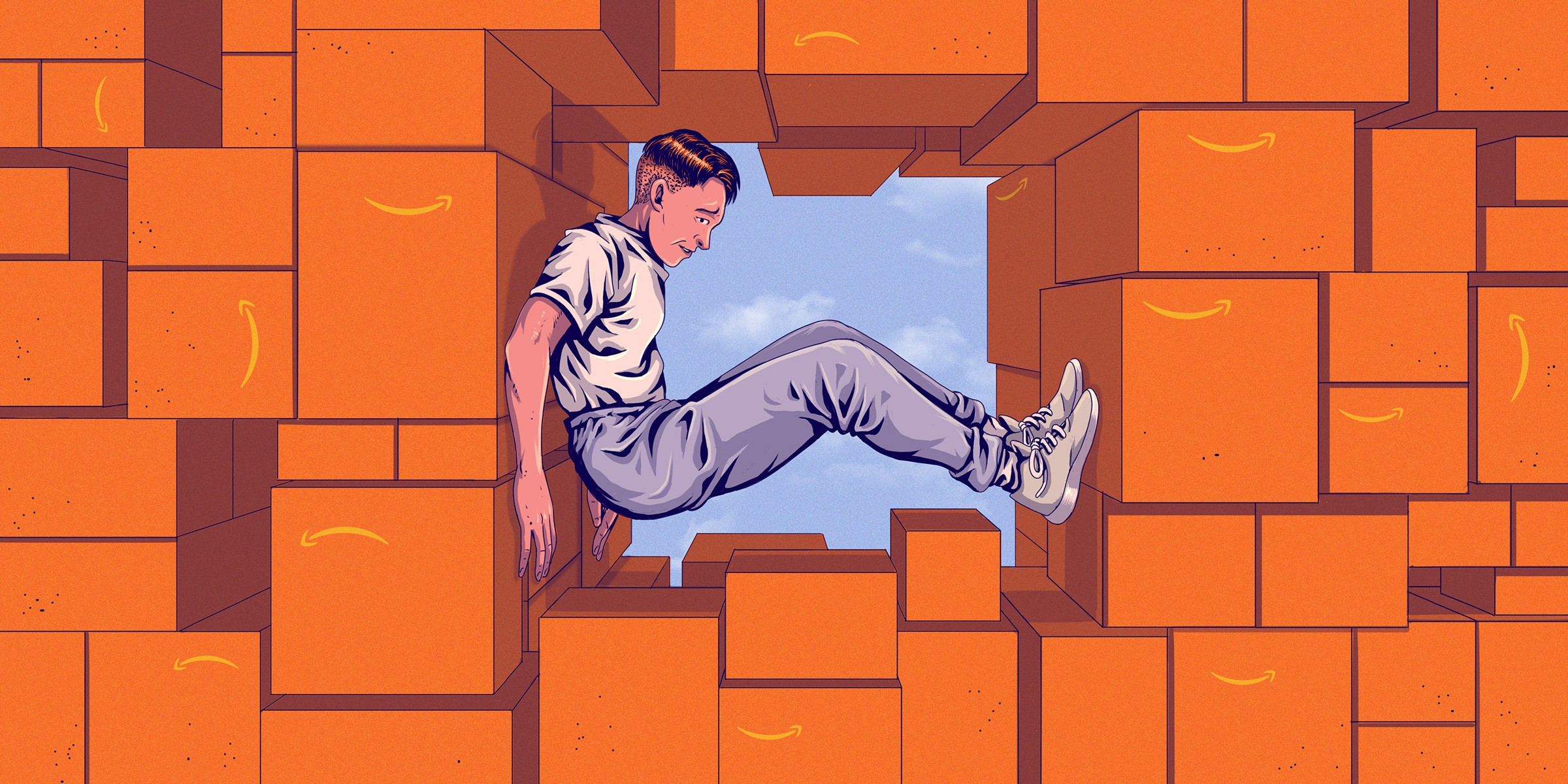 The Relentless Misery of Working Inside an Amazon Warehouse