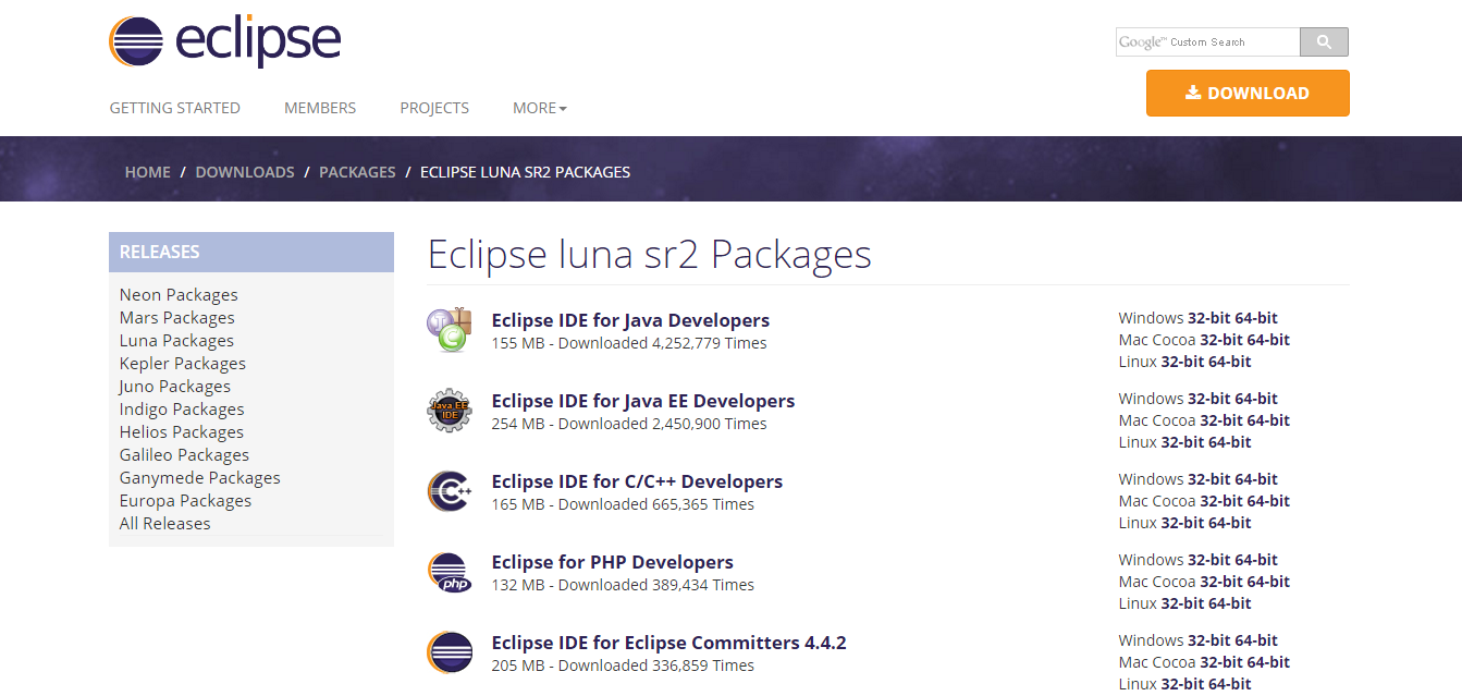 eclipse luna 64 bit free download