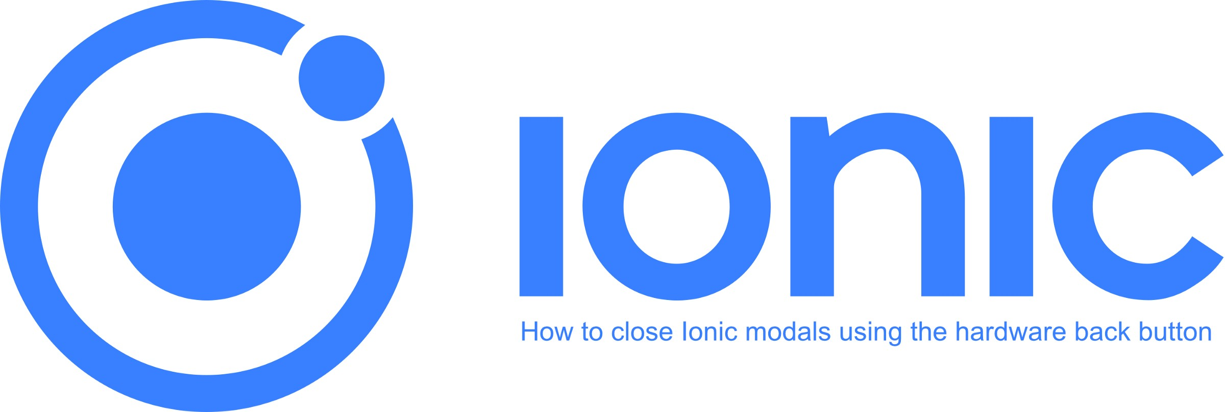 How to close Ionic modals using the hardware back button - DEV