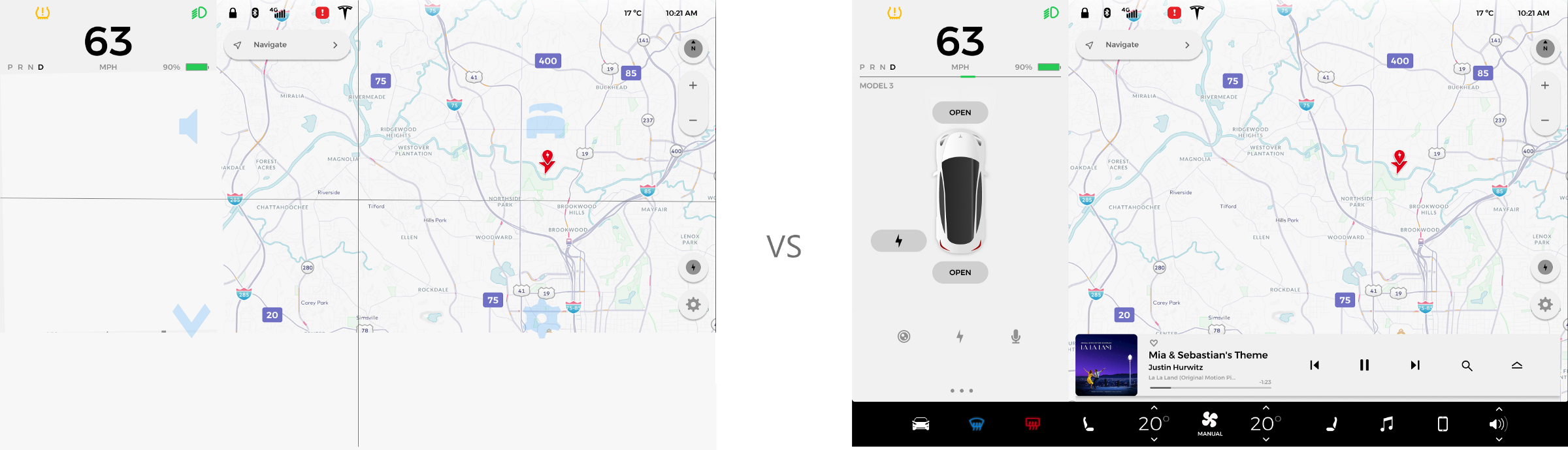 The Tesla center screen isn't meant for engaged driving