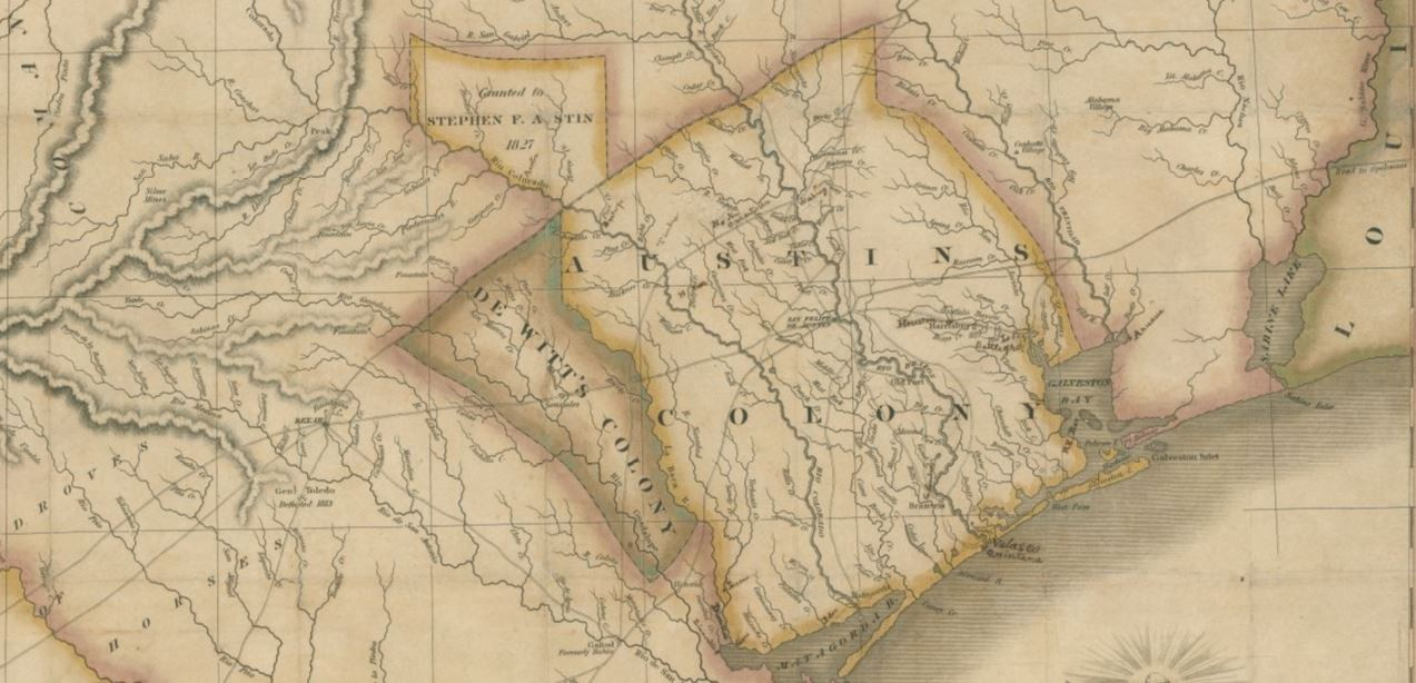 Texas Map Of Texas.Map Of Texas With Parts Of The Adjoining States Save Texas History
