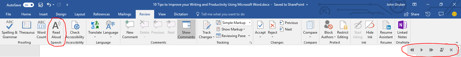 can i voice type in microsoft word