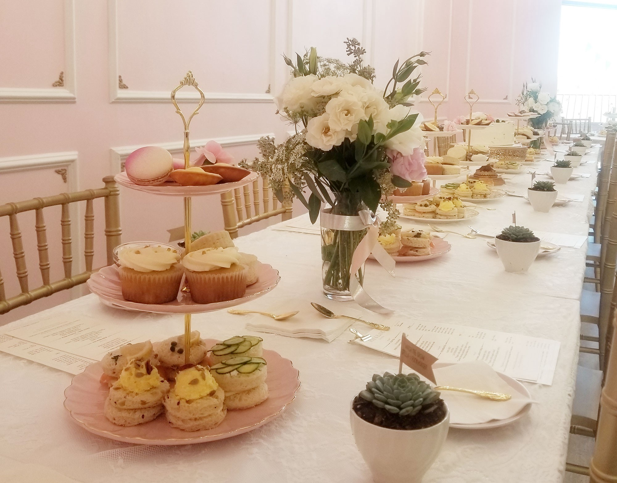 Baby Shower Venue In Los Angeles Rose And Blanc Tea Room Medium