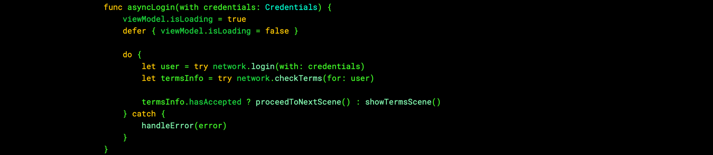 Synchronous processing in Swift