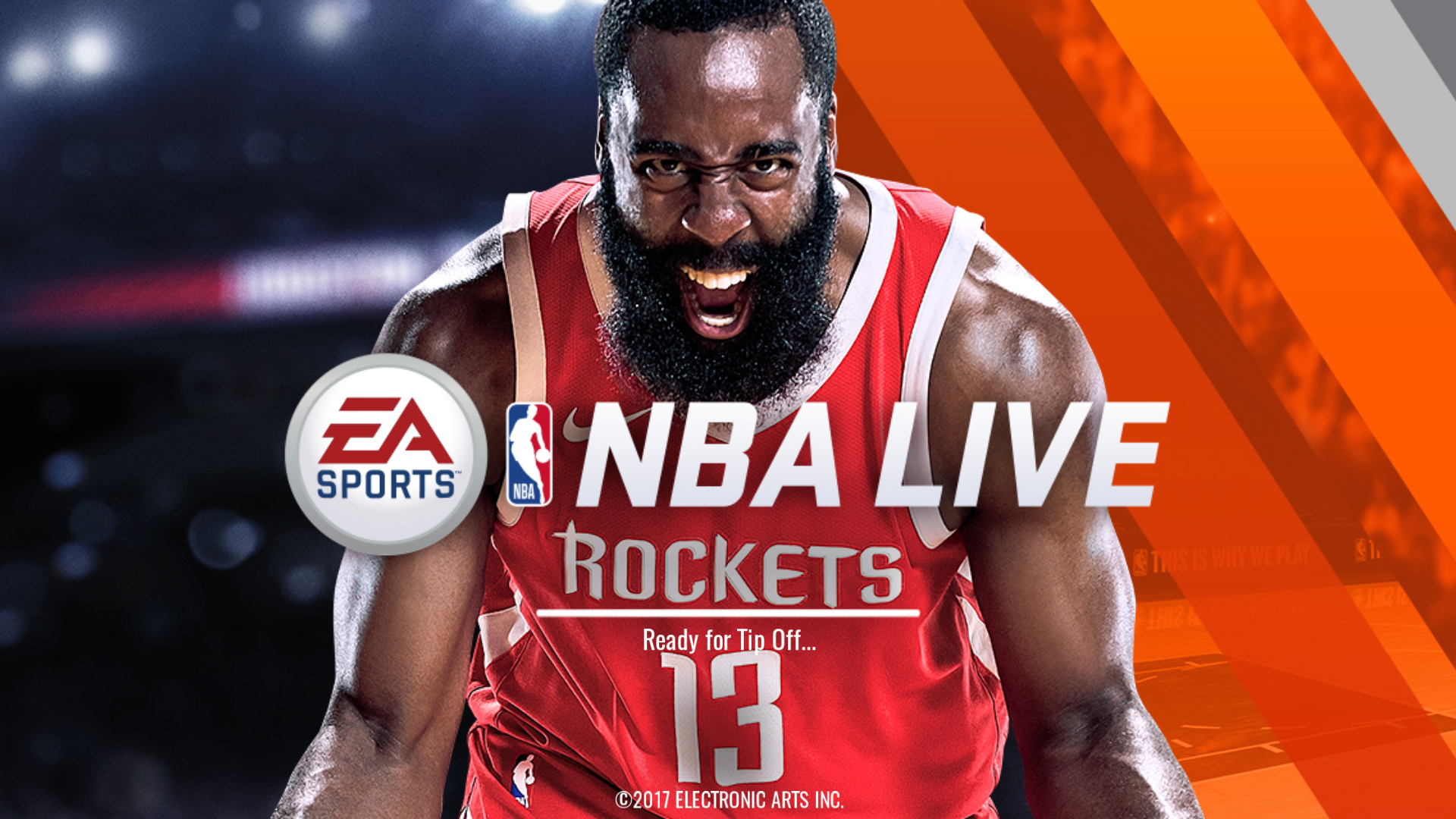da779bb07 NBA Live mobile season 2 splash screen feat. cover athlete James Harden