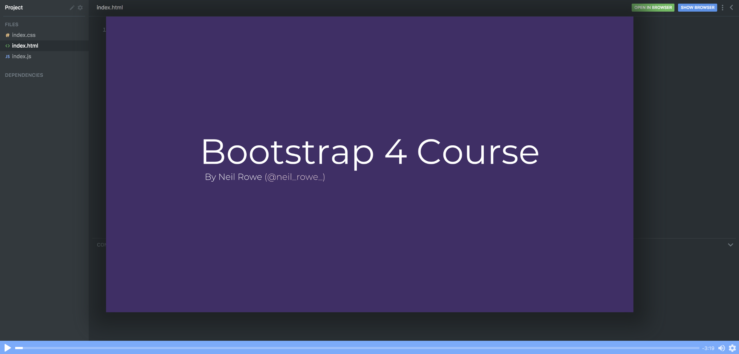 Want to learn Bootstrap 4? Here's our free 10-part course. Happy Easter!