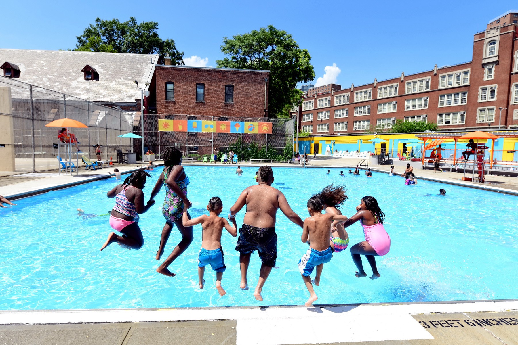Everyone Jumps In At The Sheltering Arms Pool In New York City. Photo  Courtesy Of NYC Department Of Parks U0026 Recreation.
