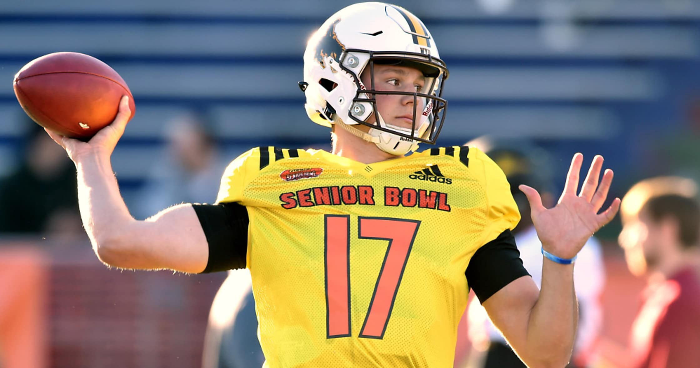 ba7d67c7c02 Wyoming s Josh Allen is the most divisive prospect of this draft season.  The gigantic quarterback has the tools NFL teams crave  Size