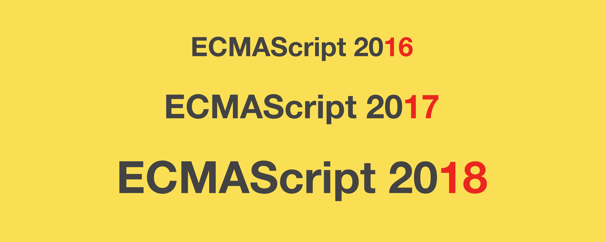 Here Are Examples Of Everything New In Ecmascript 2016 2017 And 2018