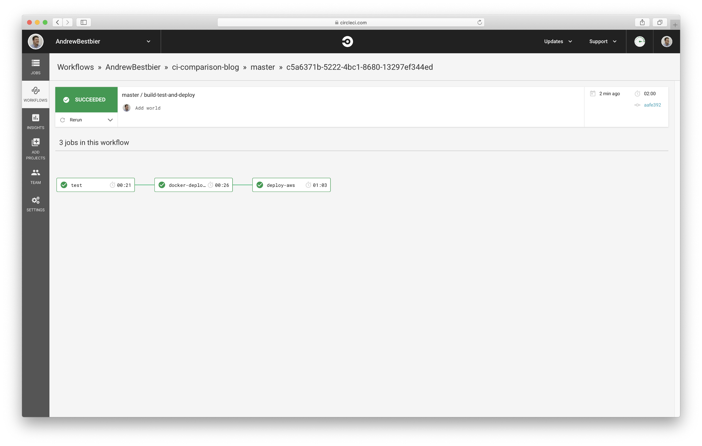 Test, build, and deploy with CircleCI
