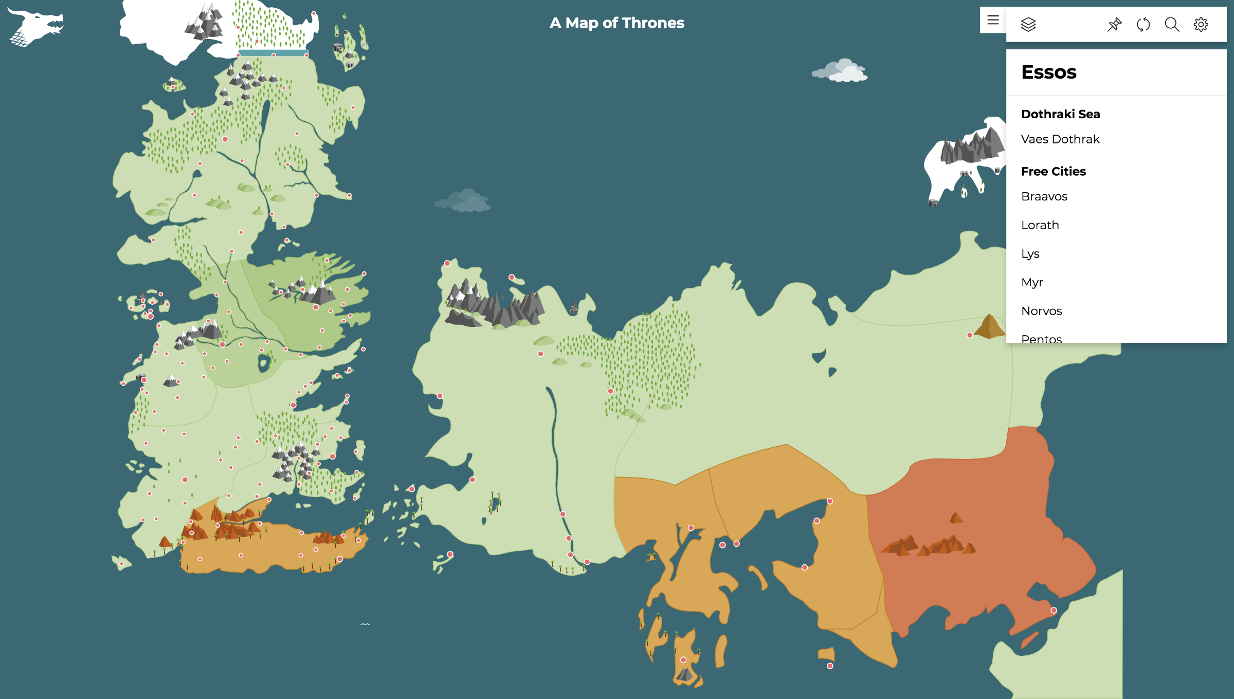 An interactive Game of Thrones map – Max Hermansson – Medium