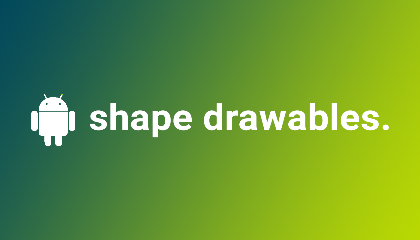 Have you ever wanted to reduce your Android application's size or make it look more interesting? If yes, then you should try out ShapeDrawables.