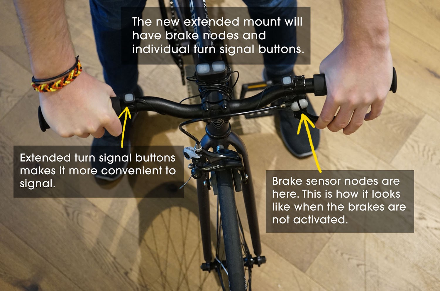 These Brake Sensors Nodes Are Small Utrusive And Easily Installed On Your Levers When The Brakes Pressed Sensor Detect It