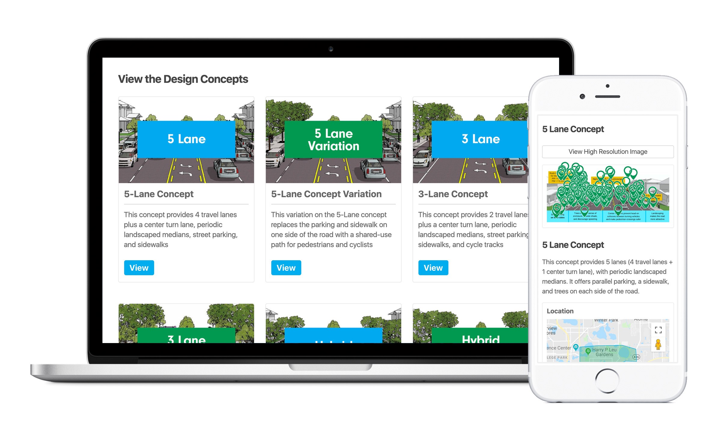 Study Links Frequent Gadget Use To >> Corrine Drive Complete Streets Study The Neighborland Handbook