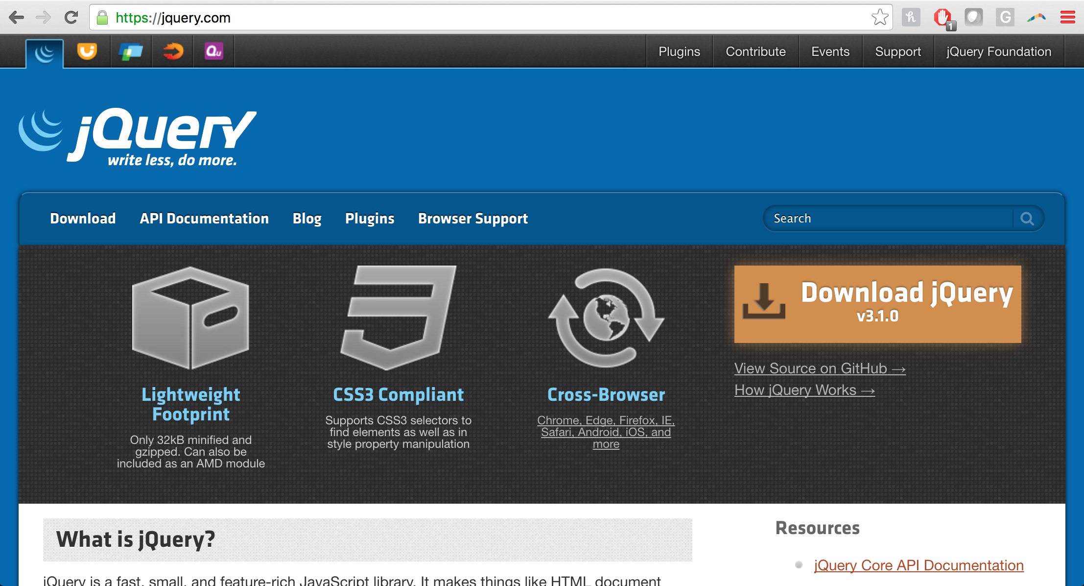 Since Jquery Is A Library It Has An Api That We Can Use To Access Its Functionality