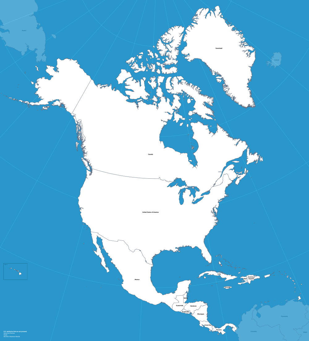 Open Source Vector North America Map Zach Grosser Medium