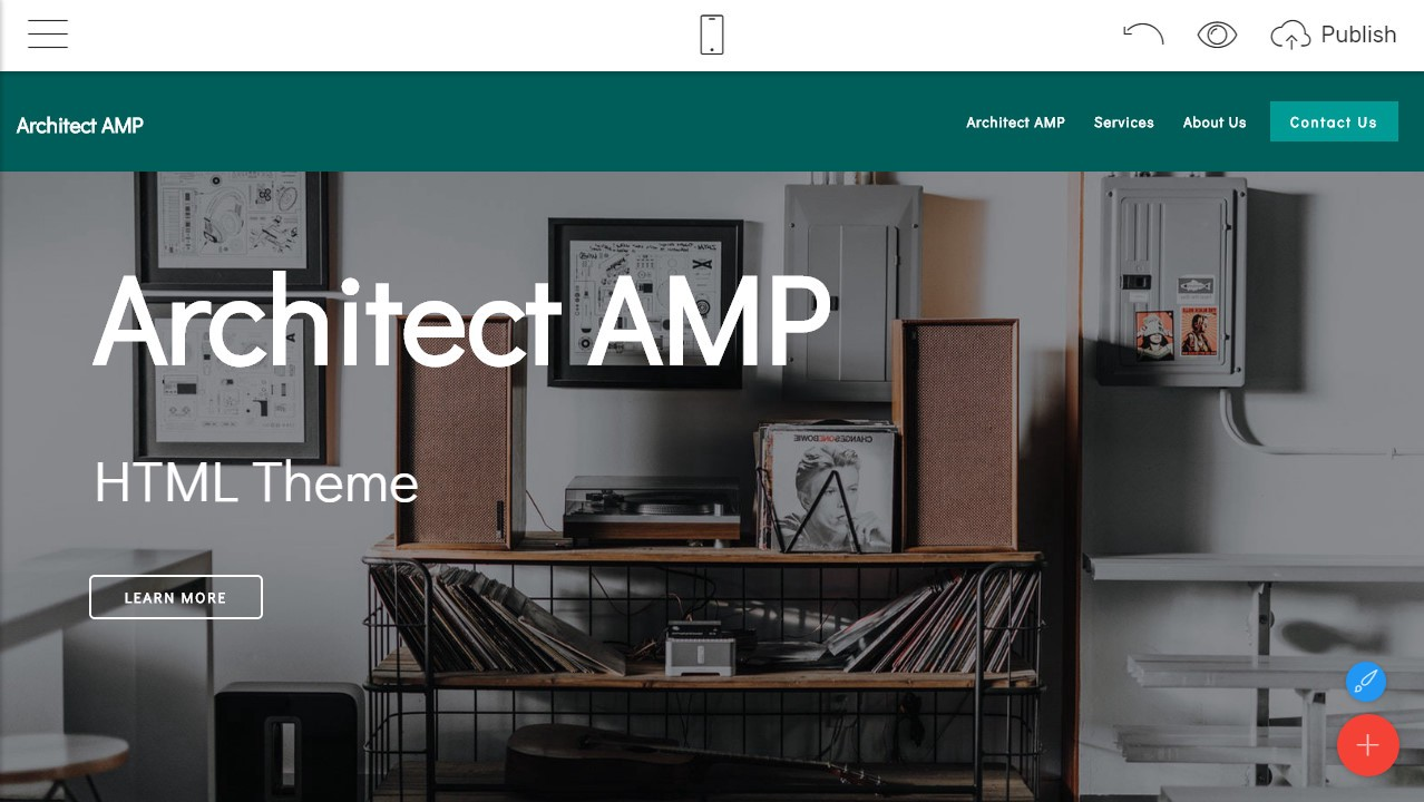 Architect AMP HTML Template