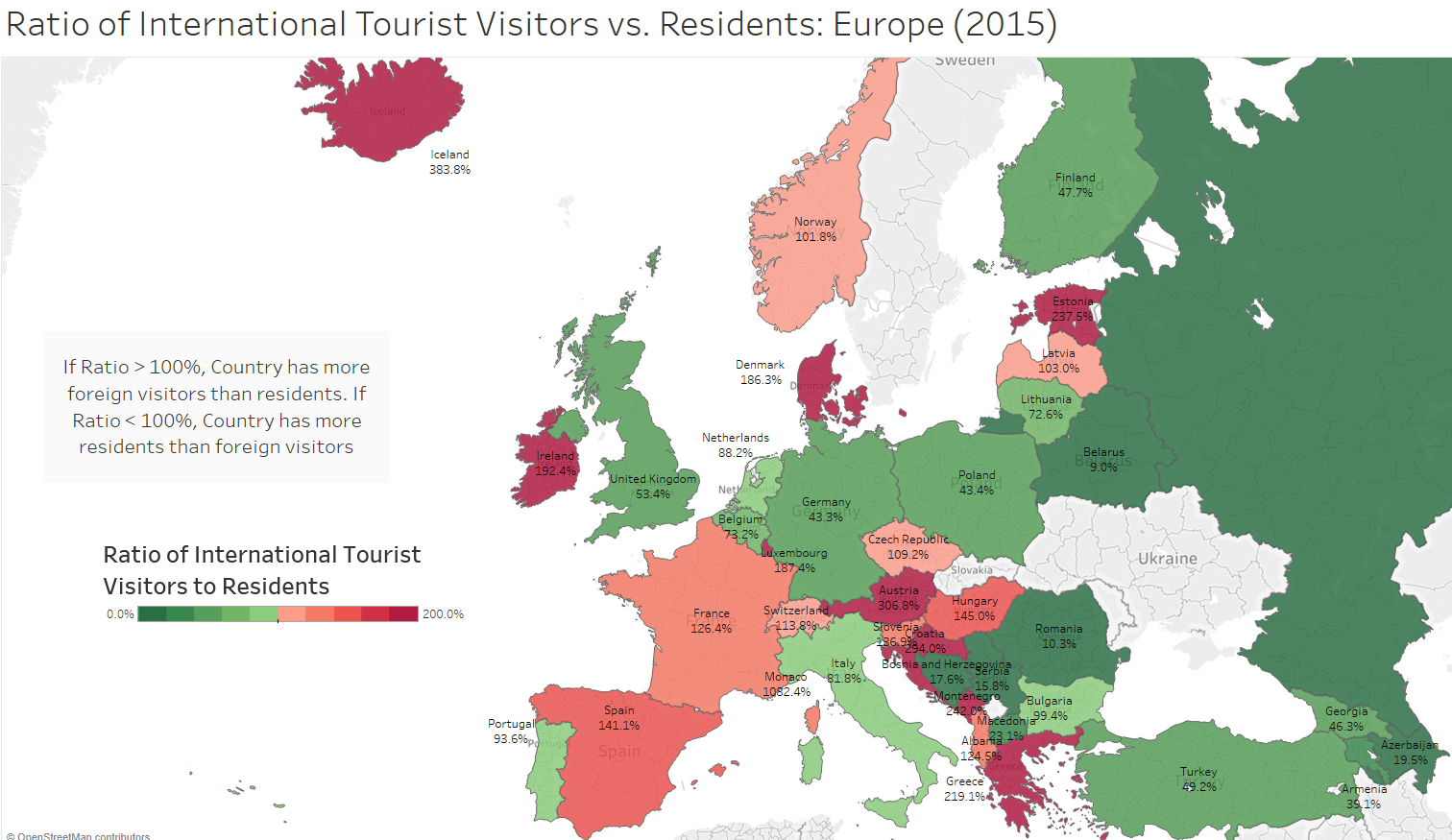 Map Of Europe Without France.Which European Countries Are Overrun With Tourists A Data Story