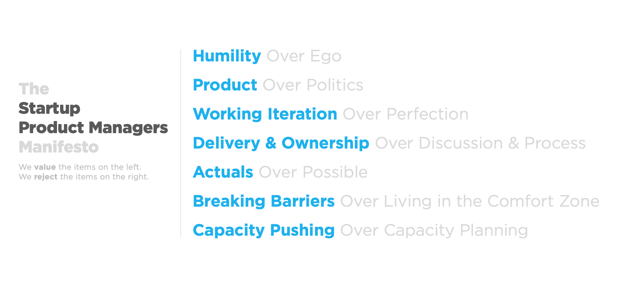 The Startup Product Managers Manifesto.