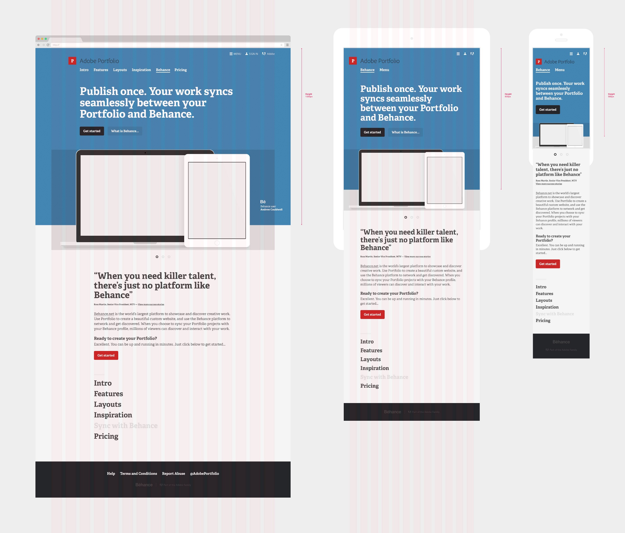 adobe pdf portfolio custom layouts