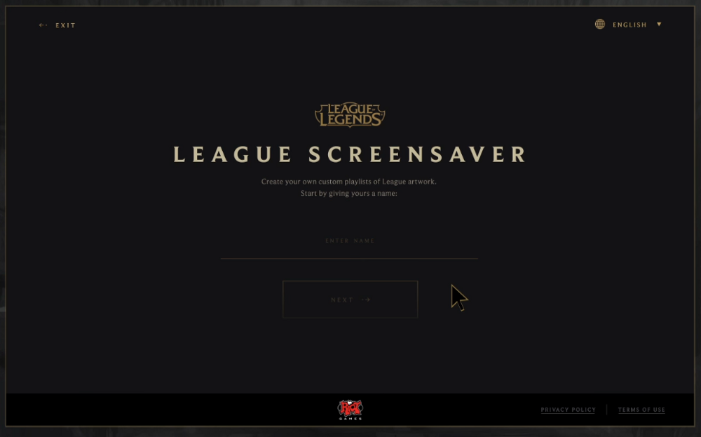create your own screensaver app