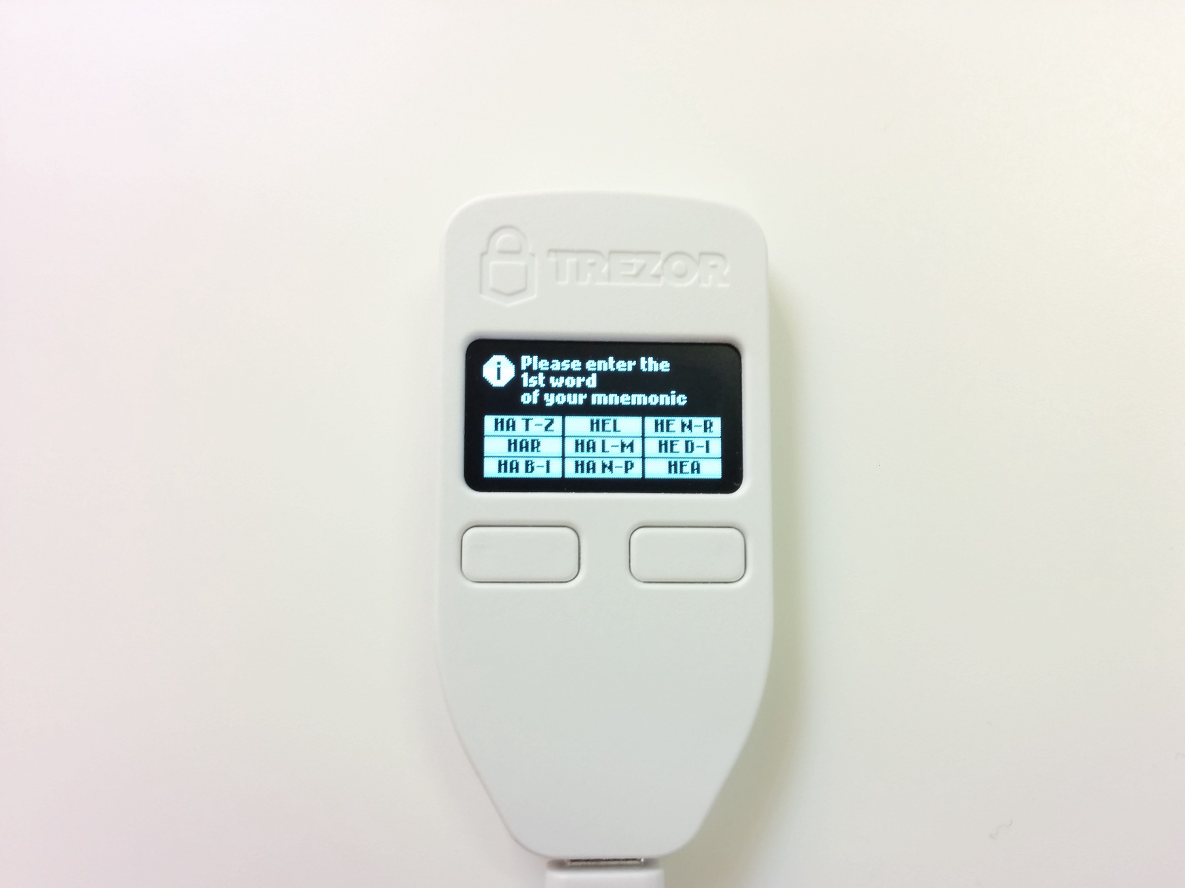 Using Advanced Recovery on TREZOR – Trezor Blog