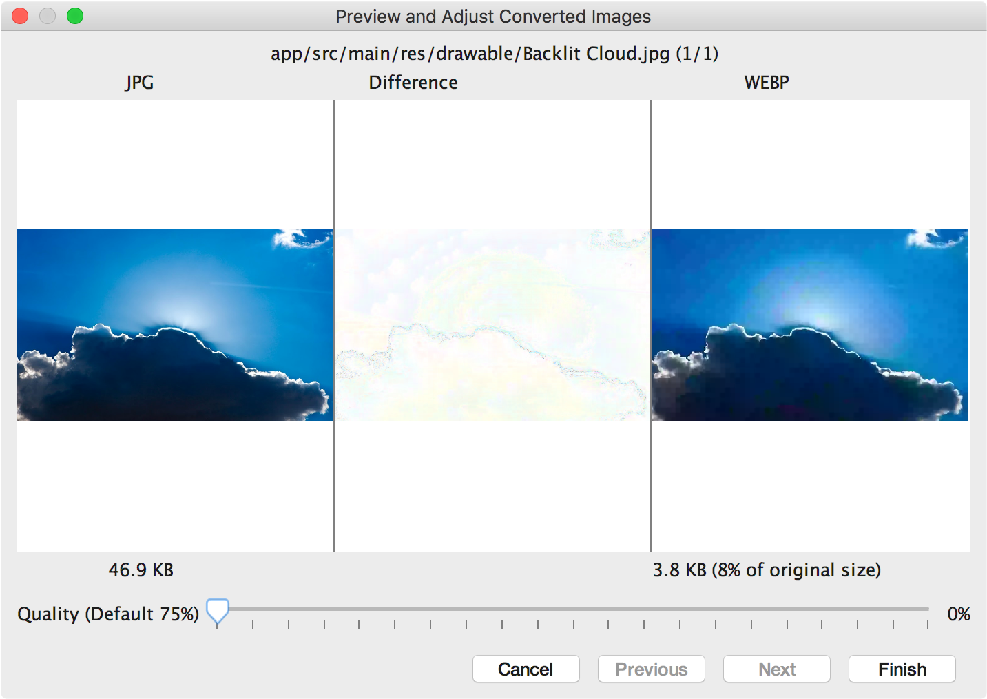 how to change a webp file to jpeg