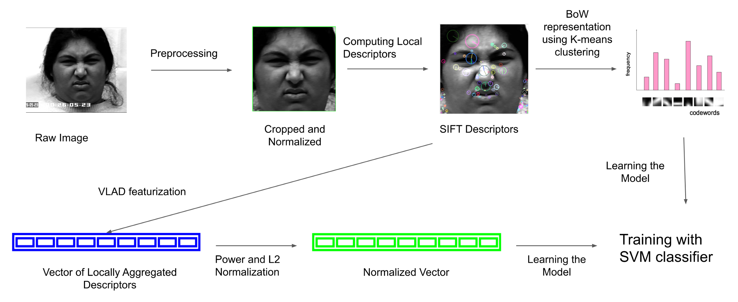 Classifying Facial Emotions via Machine Learning